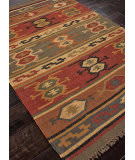 Addison And Banks Flat Weave Abr0036 Deep Rust Area Rug
