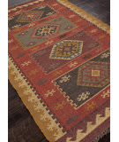Addison And Banks Flat Weave Abr0039 Red Area Rug