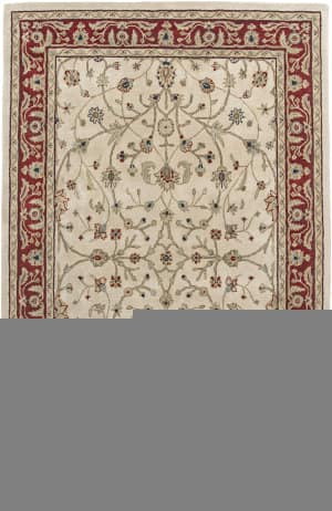 Amer Cardinal Pius Ivory Red Area Rug