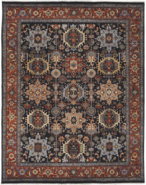 Amer Antiquity Fc-33 Navy Area Rug