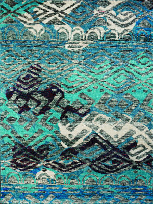 Amer Silkshine Sf-13 Blue Area Rug