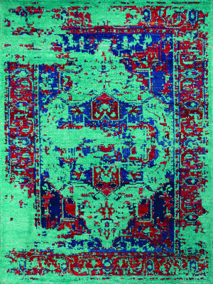 Amer Silkshine Sf-17 Turquoise Area Rug