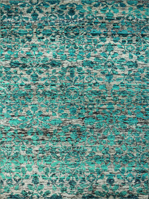 Amer Silkshine Sf-29 White-Aqua Area Rug