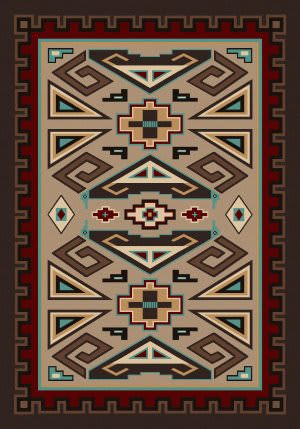 American Dakota Voices Butte Brown Area Rug