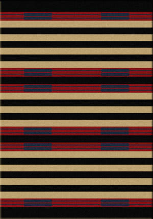 American Dakota Cabin Chief Stripe Red Area Rug