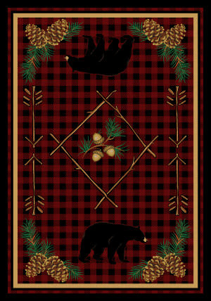 American Dakota National Park Deep Woods Red Area Rug