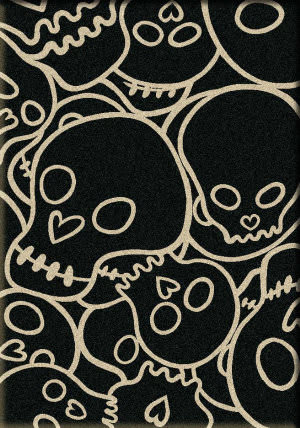 American Dakota Motor Head Head Banger Black Area Rug