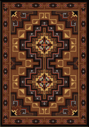 American Dakota Voices High Rez Brown Area Rug