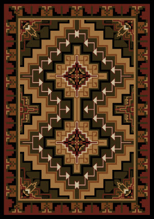 American Dakota Cabin Hill Country Red Area Rug