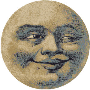 American Dakota Novelty Moon Face Natural Area Rug