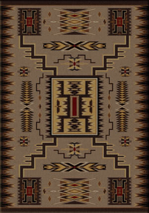 American Dakota Voices Storm Catcher Brown Area Rug
