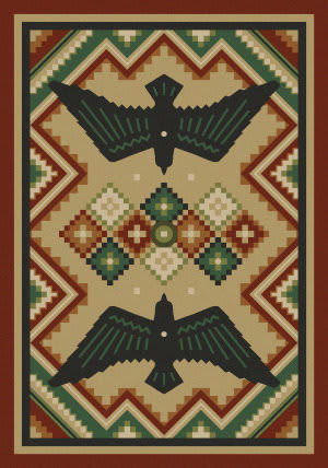 American Dakota National Park Sunset Dance Natural Area Rug