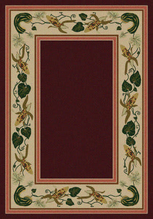 American Dakota New Echota Three Sisters Burgundy Area Rug