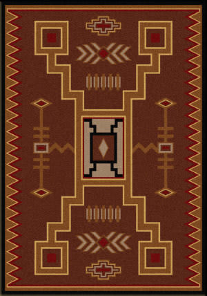 American Dakota Cabin Thunderstorm Brown Area Rug