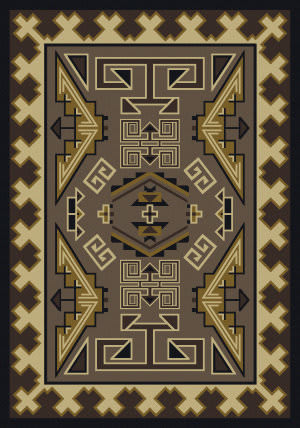 American Dakota Cabin Trader Blanket Brown Area Rug