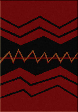 American Dakota Voices War Path Red Area Rug