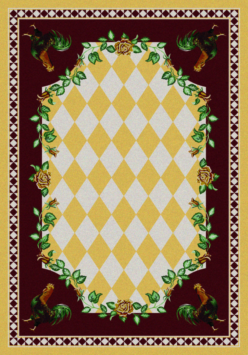 American Dakota Novelty High Country Rooster Yellow Rug