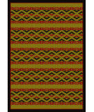 American Dakota New Echota Basket Weave Brown Area Rug