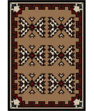 American Dakota Camp Cami Blanket Brown Area Rug