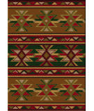 American Dakota Cabin Dakota Star Green Area Rug