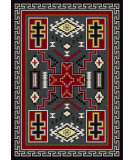 American Dakota Voices Double Cross Gray Area Rug