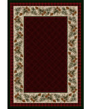 American Dakota National Park Evergreen Red Area Rug