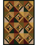 American Dakota Cabin Folk Lore Brown Area Rug