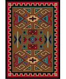 American Dakota Trader Rugs Four Rams Brown Area Rug