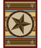American Dakota Great State Of Mind Hacienda Star Yellow Area Rug