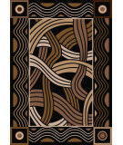 American Dakota New Echota Hand Coiled Black Area Rug