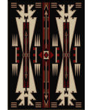 American Dakota Voices Horse Thieves Black Area Rug