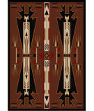 American Dakota Voices Horse Thieves Brown Area Rug