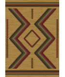 American Dakota Voices Hour Glass Brown Area Rug