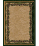 American Dakota National Park Pine Mountain Green Area Rug