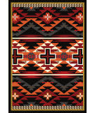 American Dakota Trader Rugs Rustic Cross Black Area Rug