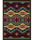 American Dakota Trader Rugs Rustic Cross Blue Area Rug