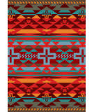 American Dakota Trader Rugs Rustic Cross Red Area Rug