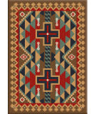 American Dakota Voices Tribesman Brown Area Rug
