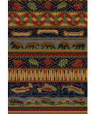 American Dakota Cabin Wilderness Trek Blue Area Rug