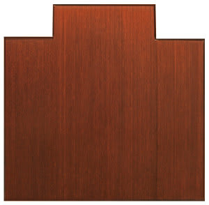Anji Mountain Bamboo Chair Mat Tri-Fold Lip Dark Cherry Area Rug