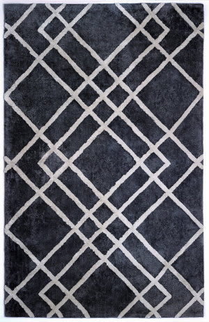 Anji Mountain Diamond Dogs 142047 Gray - Ivory Area Rug