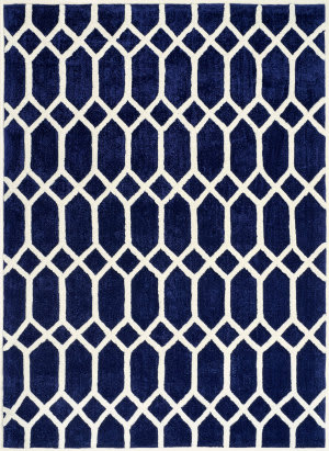 Anji Mountain Pablo 142061 Blue - Ivory Area Rug