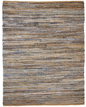 Anji Mountain American Graffiti Graphite Denim And Jute Area Rug