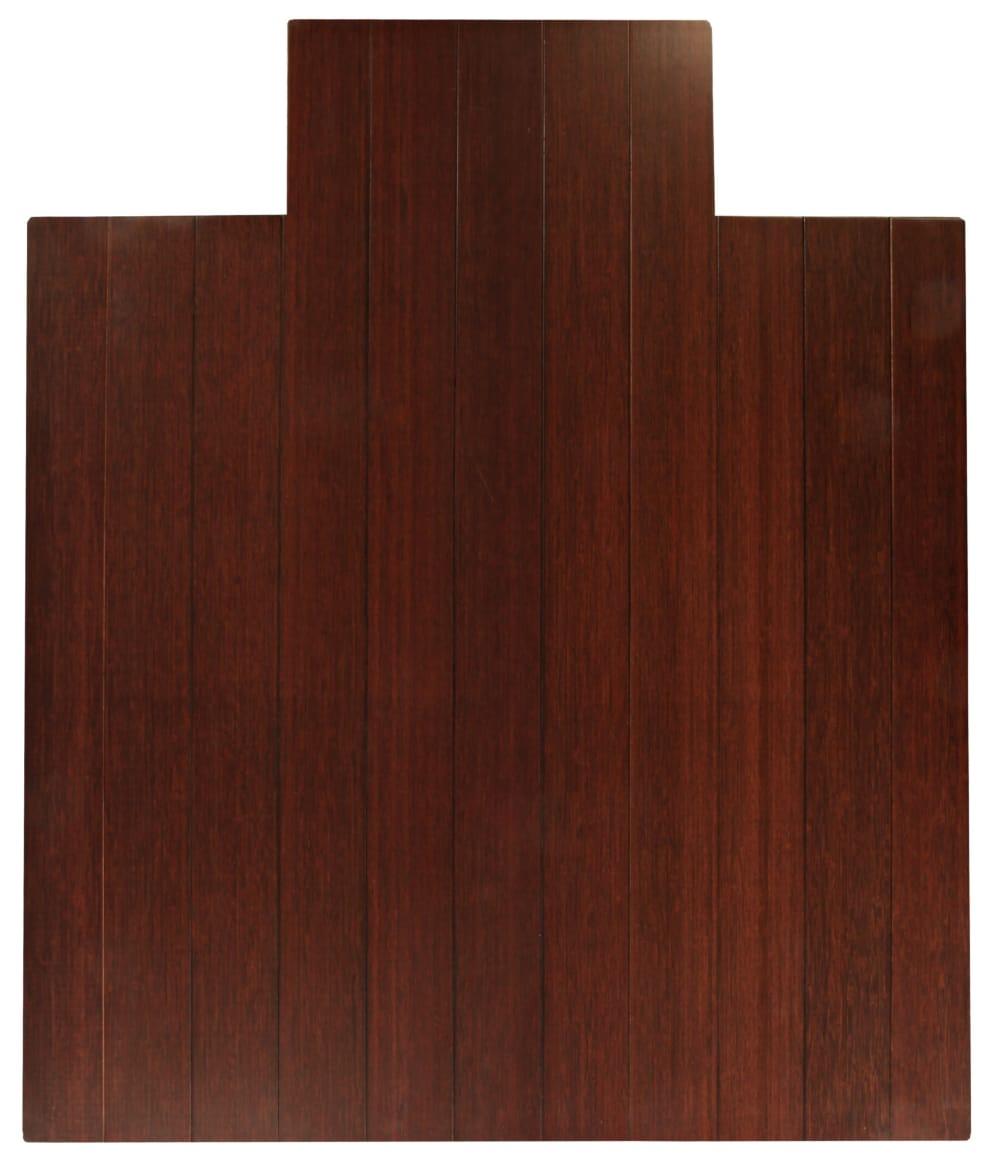 Anji Mountain Bamboo Chair Mat Deluxe Lip Dark Cherry Rug Studio