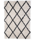 Anji Mountain Silky Shag 142070 Ivory - Gray Area Rug