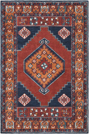 Surya Arabia Ayda Dark Orange - Navy Area Rug
