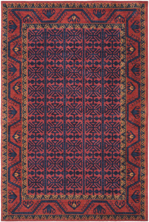 Surya Arabia Mariam Poppy Red - Navy Area Rug