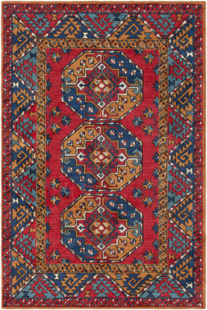 Surya Arabia Joelle Poppy Red - Navy Area Rug