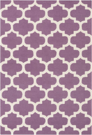 Surya Pollack Stella Purple/White Area Rug