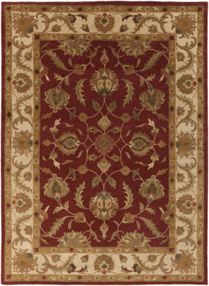 Surya Oxford Isabelle Red/Beige Area Rug